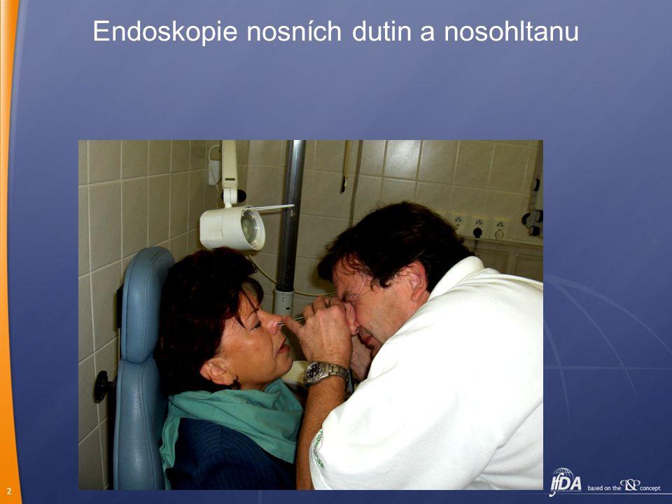 Endoskopie nosních dutin a nosohltanu