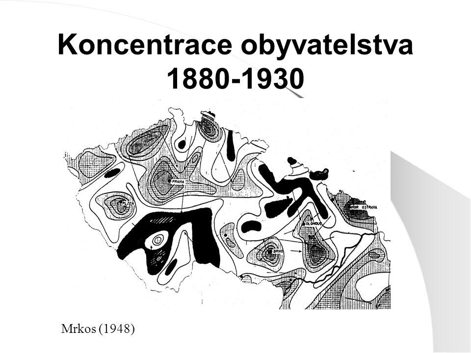 Koncentrace obyvatelstva 1880-1930