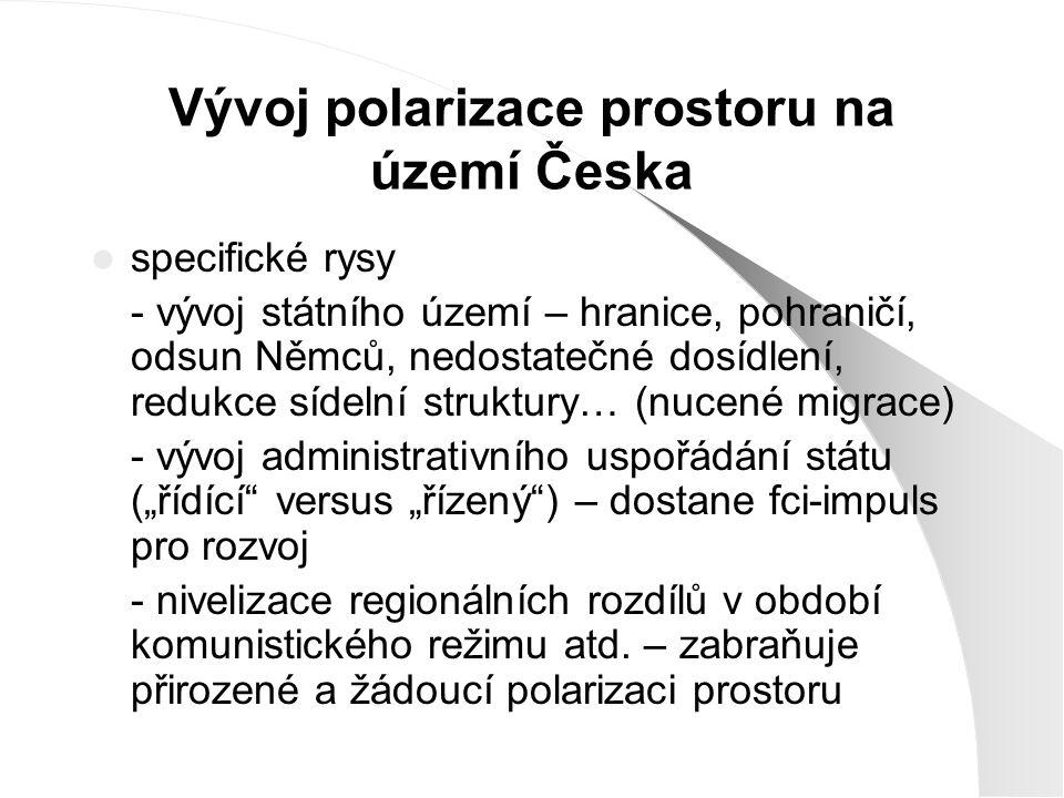 Vývoj polarizace prostoru na území Česka