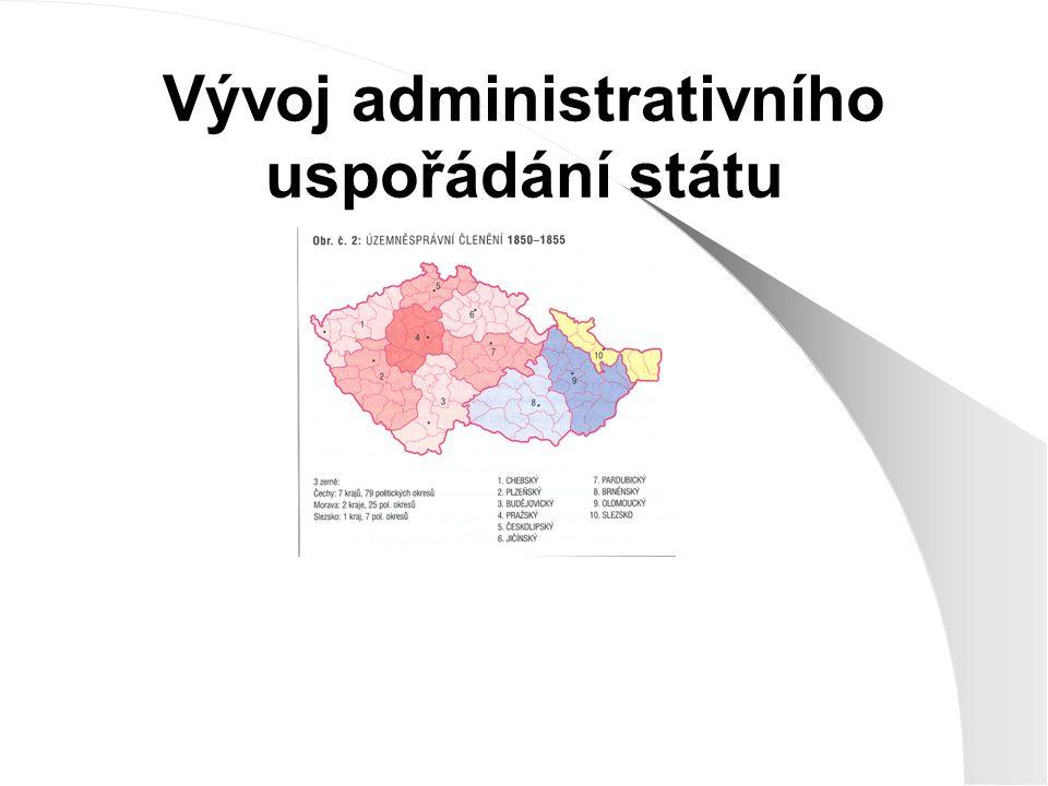 Vývoj administrativního uspořádání státu