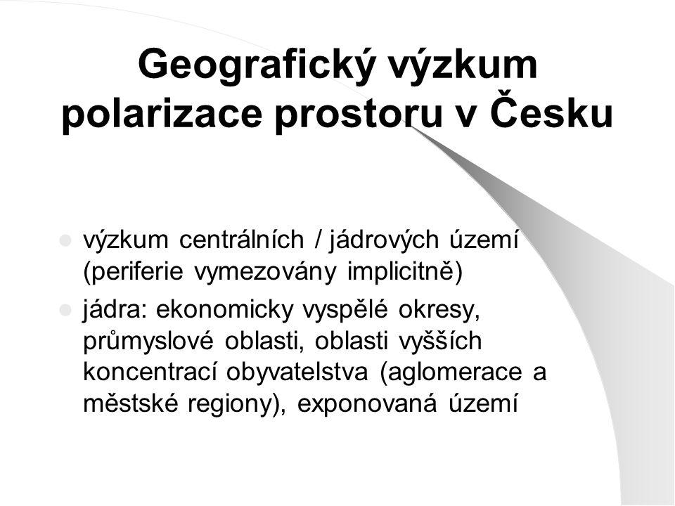 Geografický výzkum polarizace prostoru v Česku