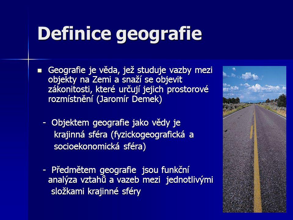 Definice geografie