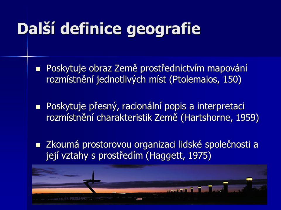 Další definice geografie