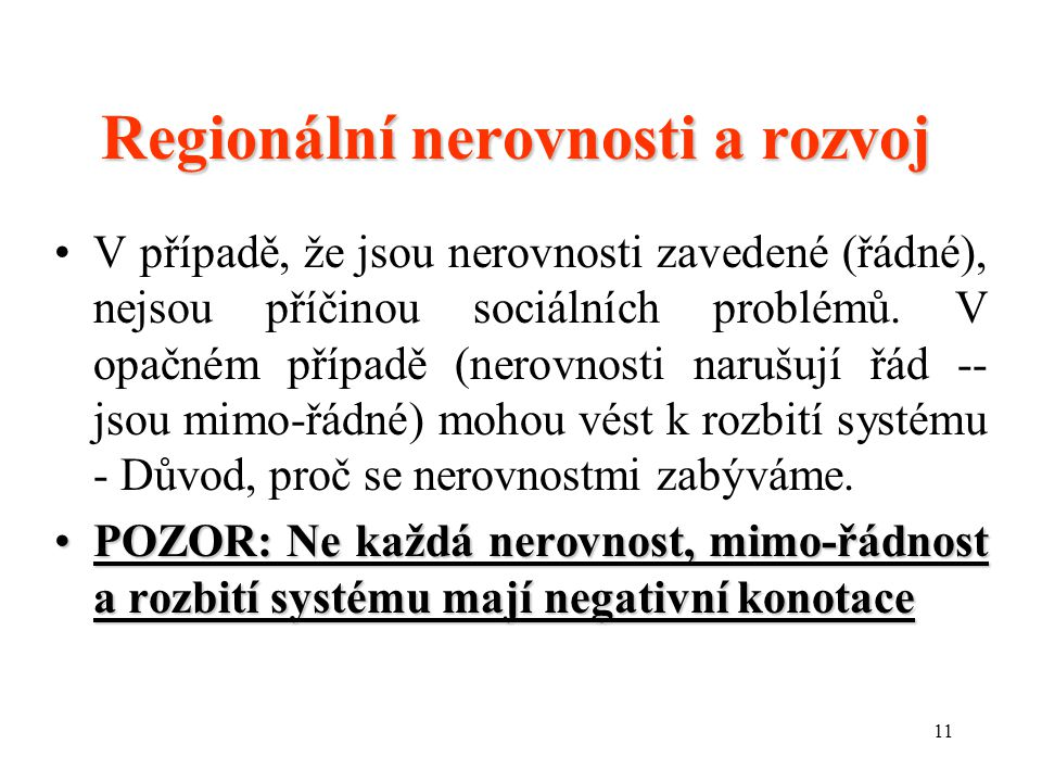 Regionální nerovnosti a rozvoj