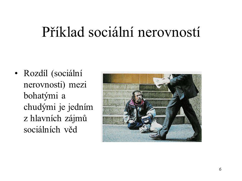 Příklad sociální nerovností