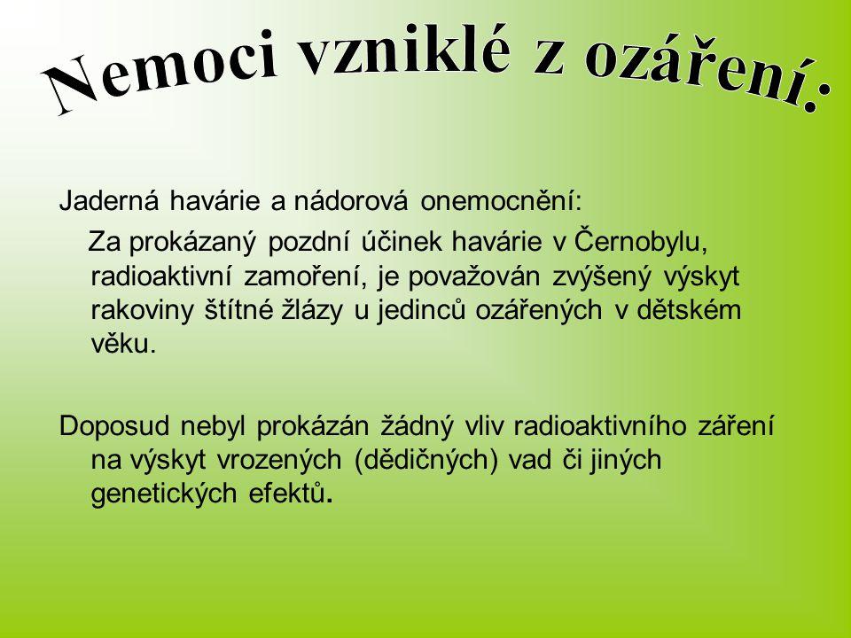 Nemoci vzniklé z ozáření: