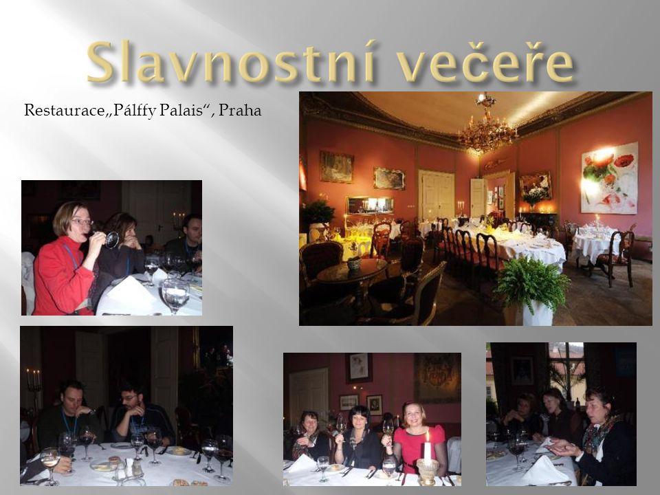 """Slavnostní večeře Restaurace""""Pálffy Palais , Praha"""