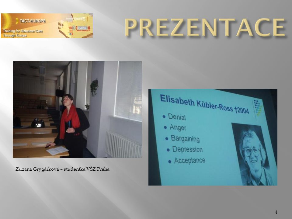 PREZENTACE Zuzana Grygárková – studentka VŠZ Praha