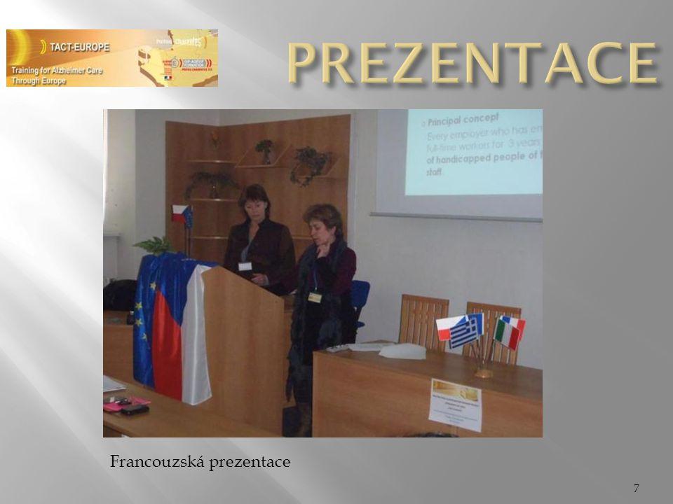 PREZENTACE Francouzská prezentace