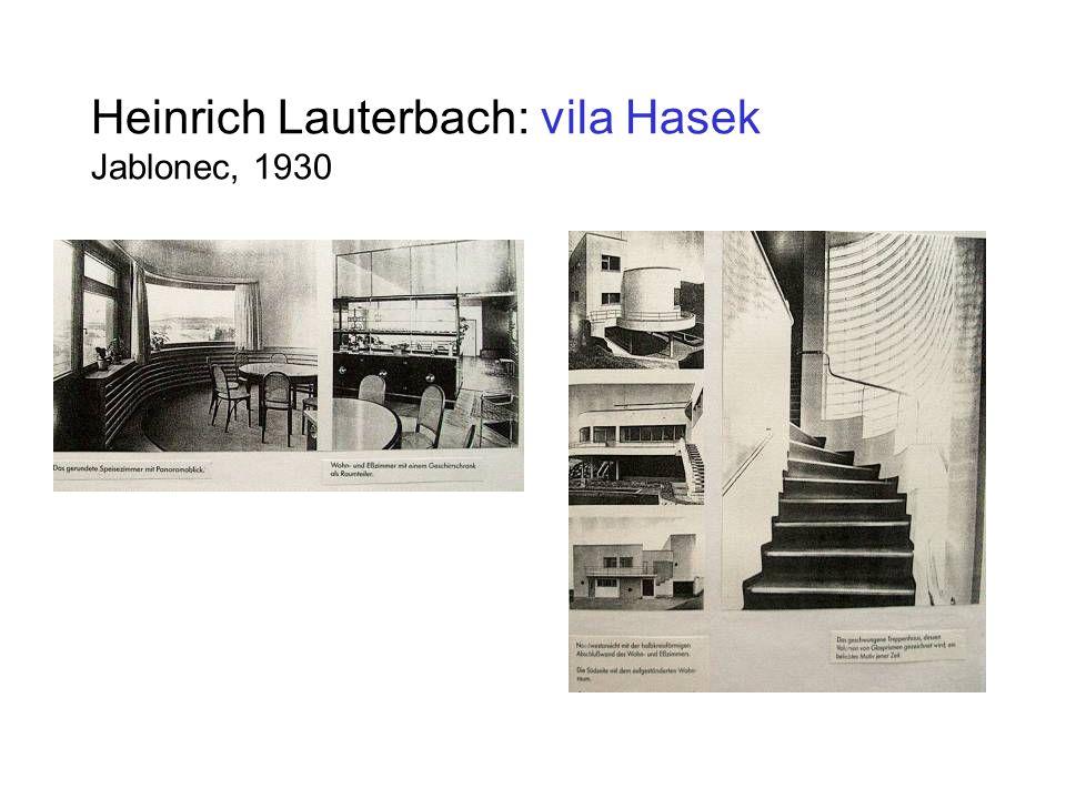 Heinrich Lauterbach: vila Hasek Jablonec, 1930