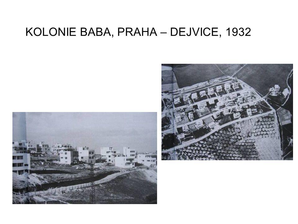 KOLONIE BABA, PRAHA – DEJVICE, 1932