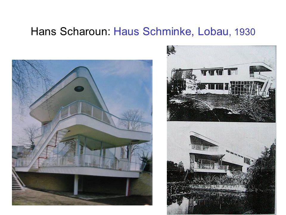 Hans Scharoun: Haus Schminke, Lobau, 1930
