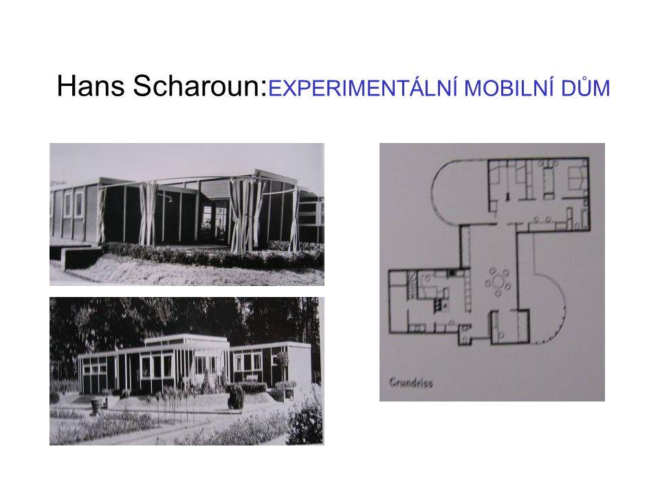 Hans Scharoun:EXPERIMENTÁLNÍ MOBILNÍ DŮM