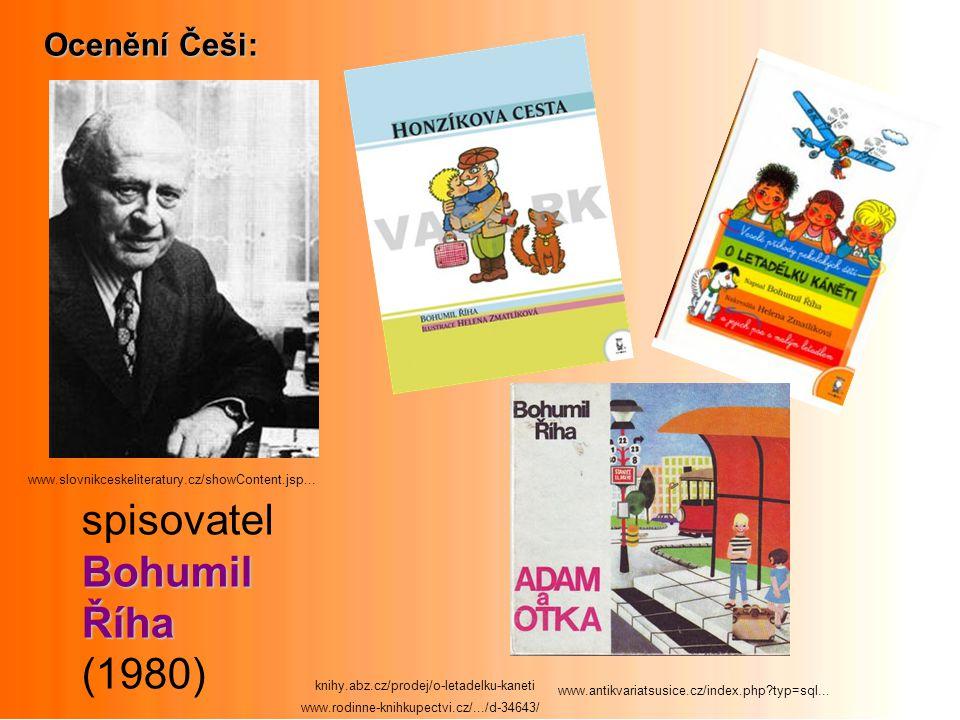 spisovatel Bohumil Říha (1980) Ocenění Češi: