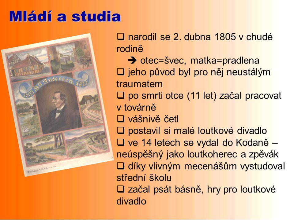 Mládí a studia narodil se 2. dubna 1805 v chudé rodině