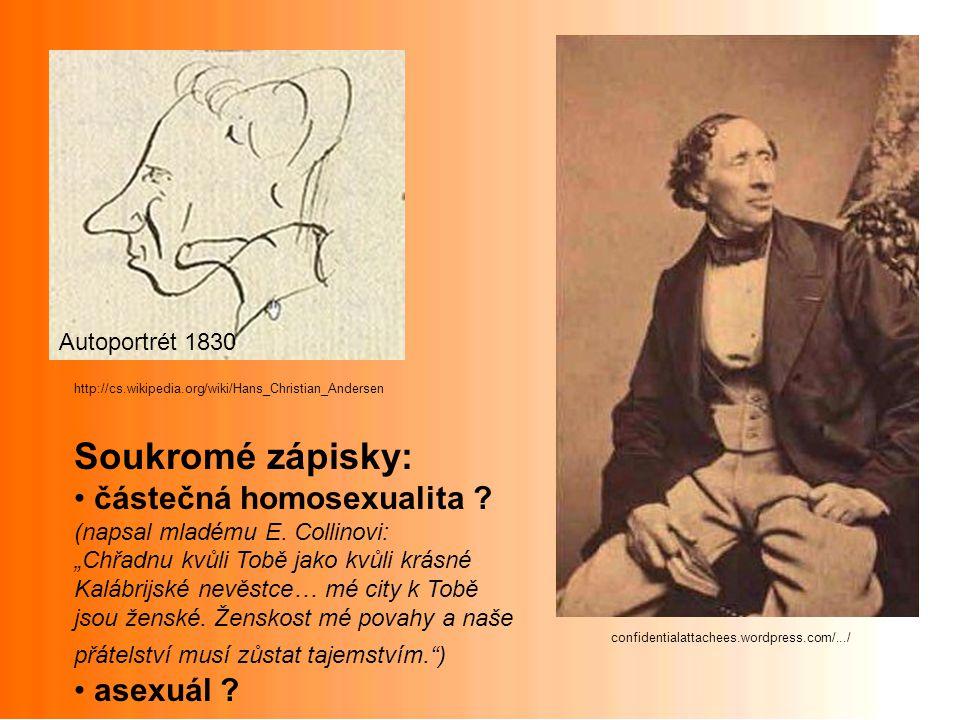 Soukromé zápisky: částečná homosexualita asexuál Autoportrét 1830