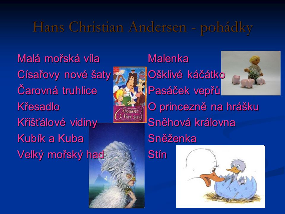 Hans Christian Andersen - pohádky