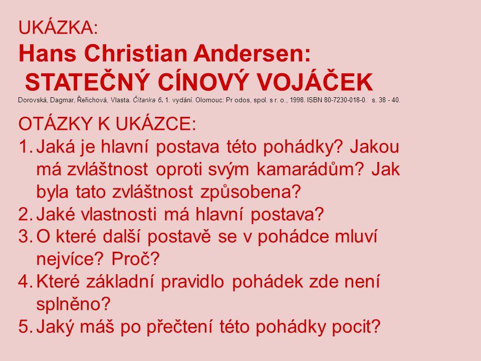 Hans Christian Andersen: STATEČNÝ CÍNOVÝ VOJÁČEK