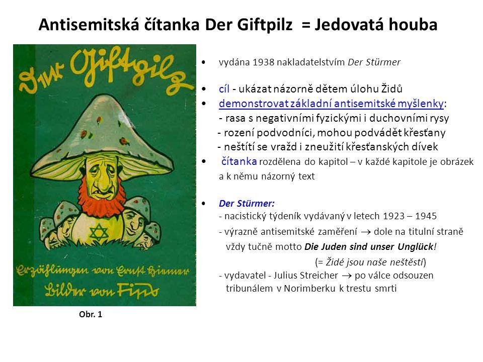 Antisemitská čítanka Der Giftpilz = Jedovatá houba