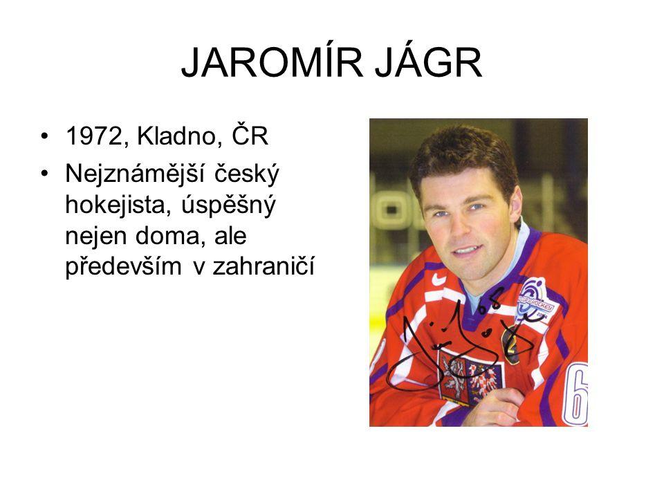 JAROMÍR JÁGR 1972, Kladno, ČR.