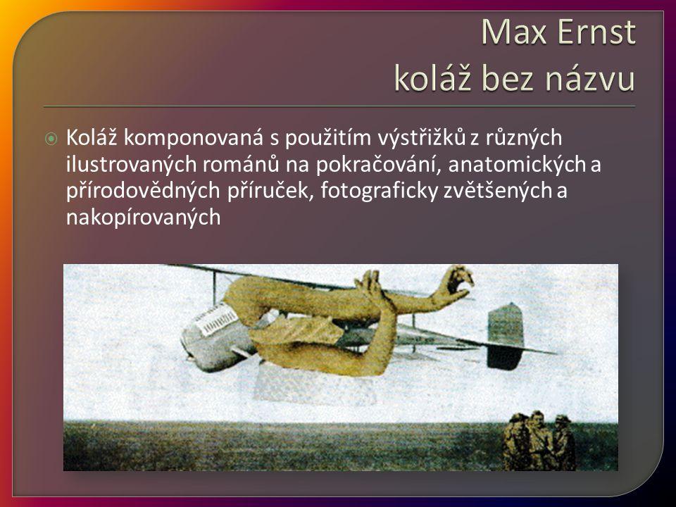 Max Ernst koláž bez názvu
