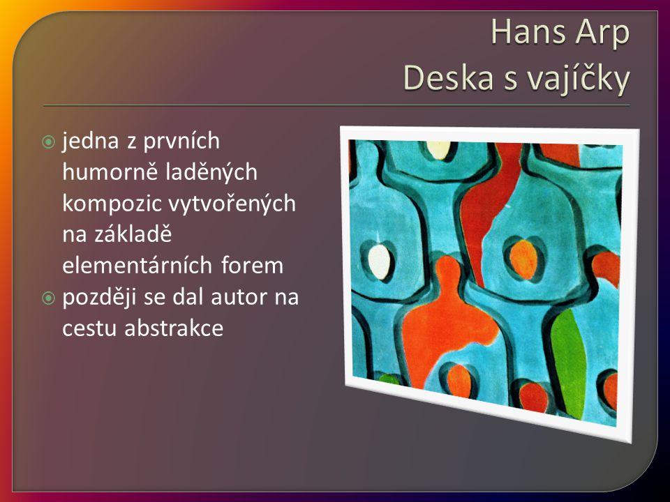 Hans Arp Deska s vajíčky