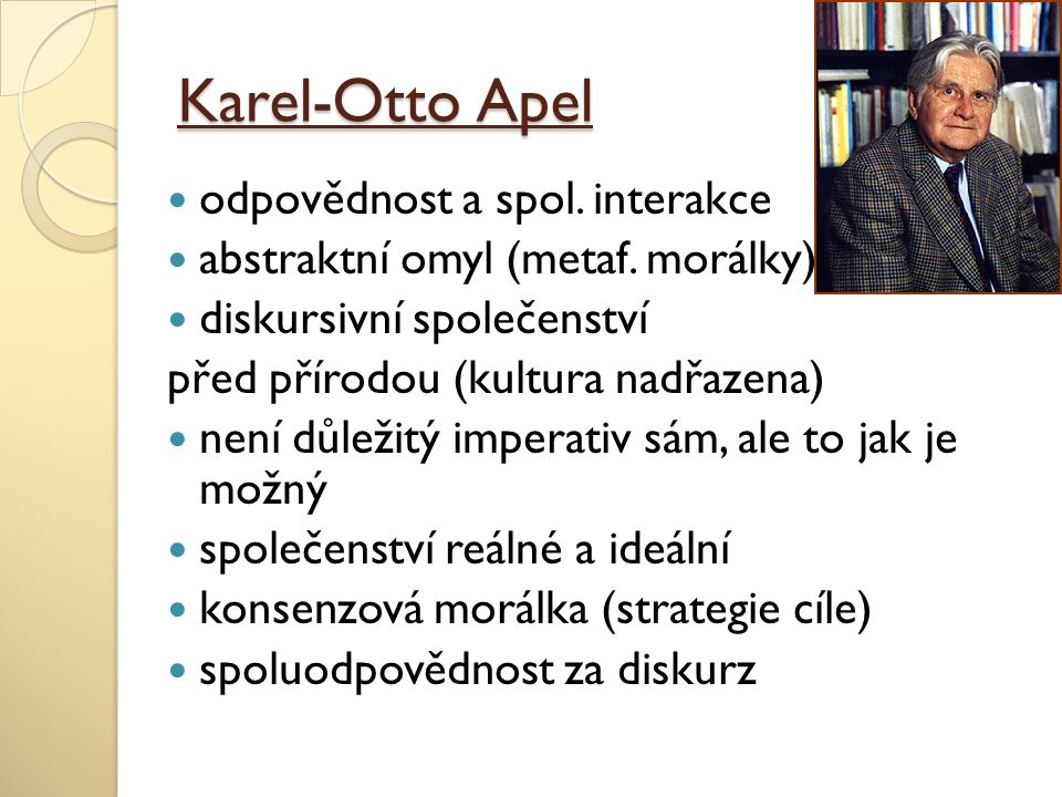 Karel-Otto Apel odpovědnost a spol. interakce