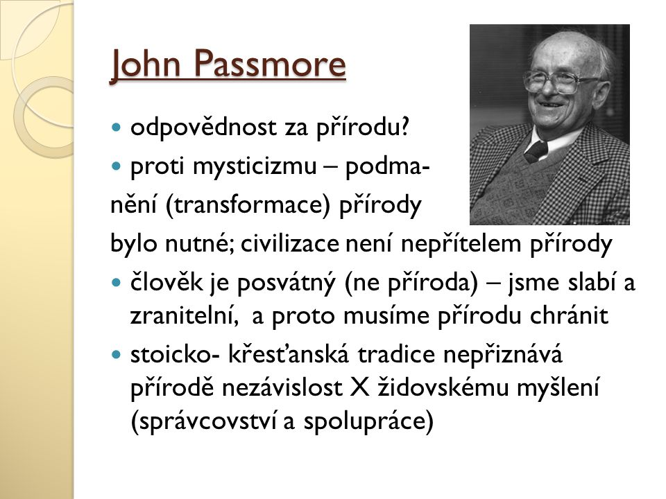 John Passmore odpovědnost za přírodu proti mysticizmu – podma-