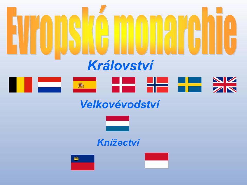 Evropské monarchie Království Velkovévodství Knížectví