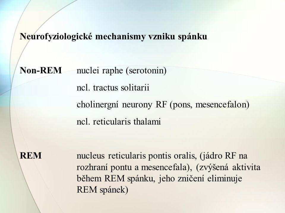 Neurofyziologické mechanismy vzniku spánku