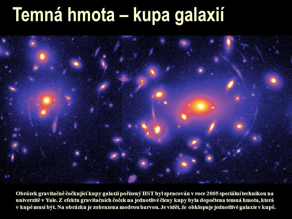 Temná hmota – kupa galaxií