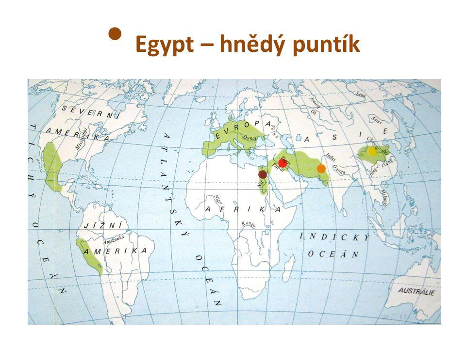 Egypt – hnědý puntík
