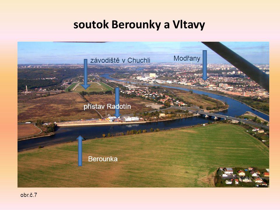 soutok Berounky a Vltavy