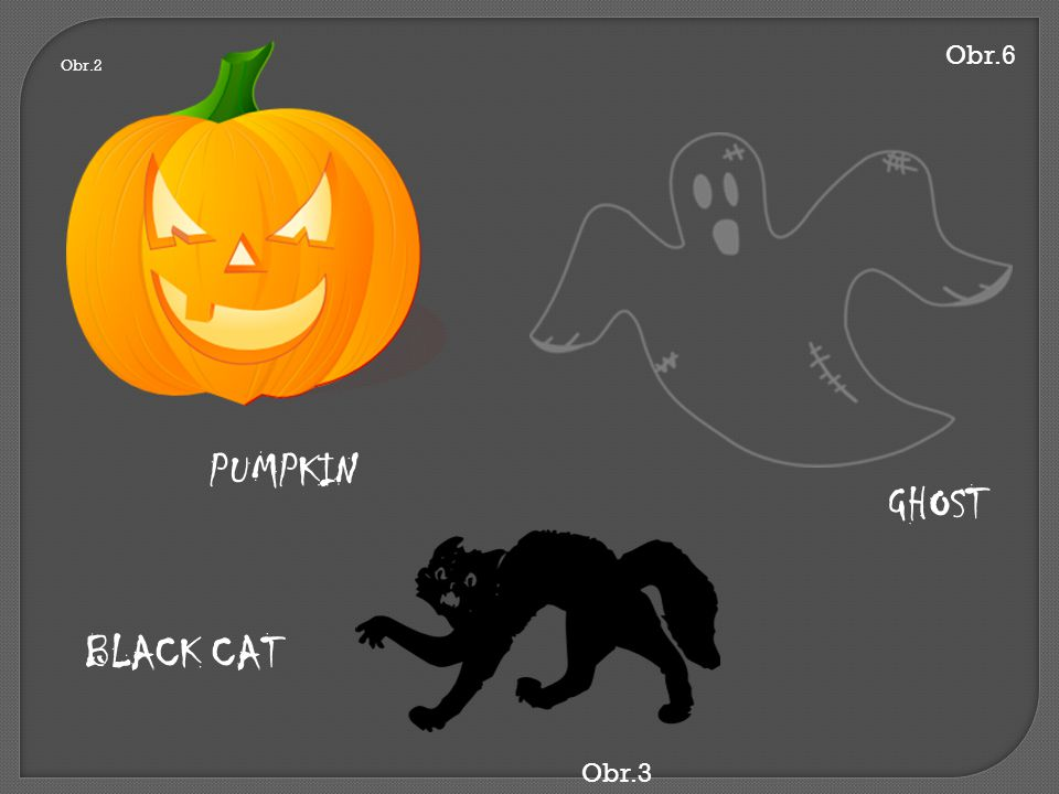 Obr.6 Obr.2 PUMPKIN GHOST BLACK CAT Obr.3