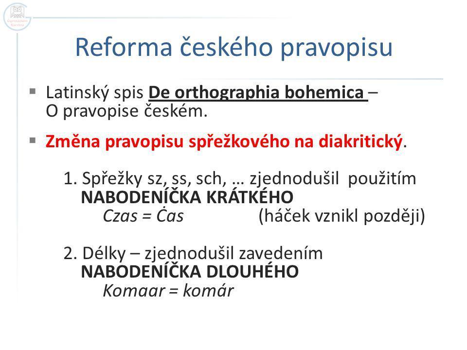 Reforma českého pravopisu