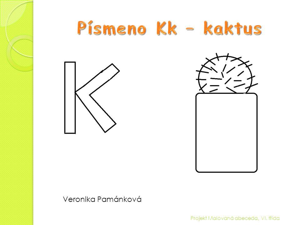 Písmeno Kk – kaktus Veronika Pamánková