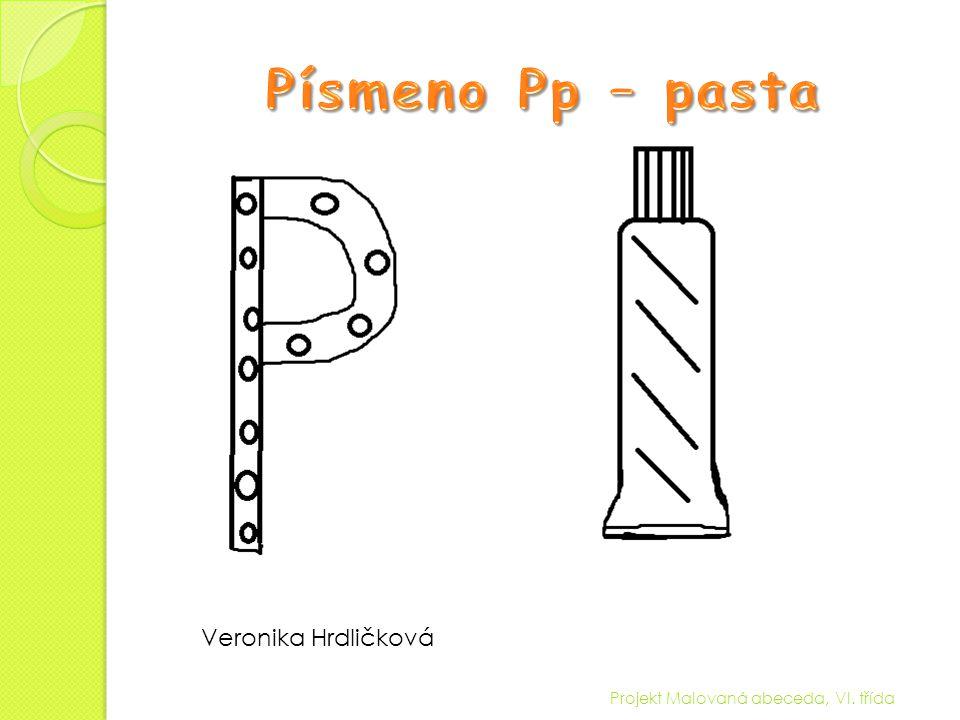 Písmeno Pp – pasta Veronika Hrdličková