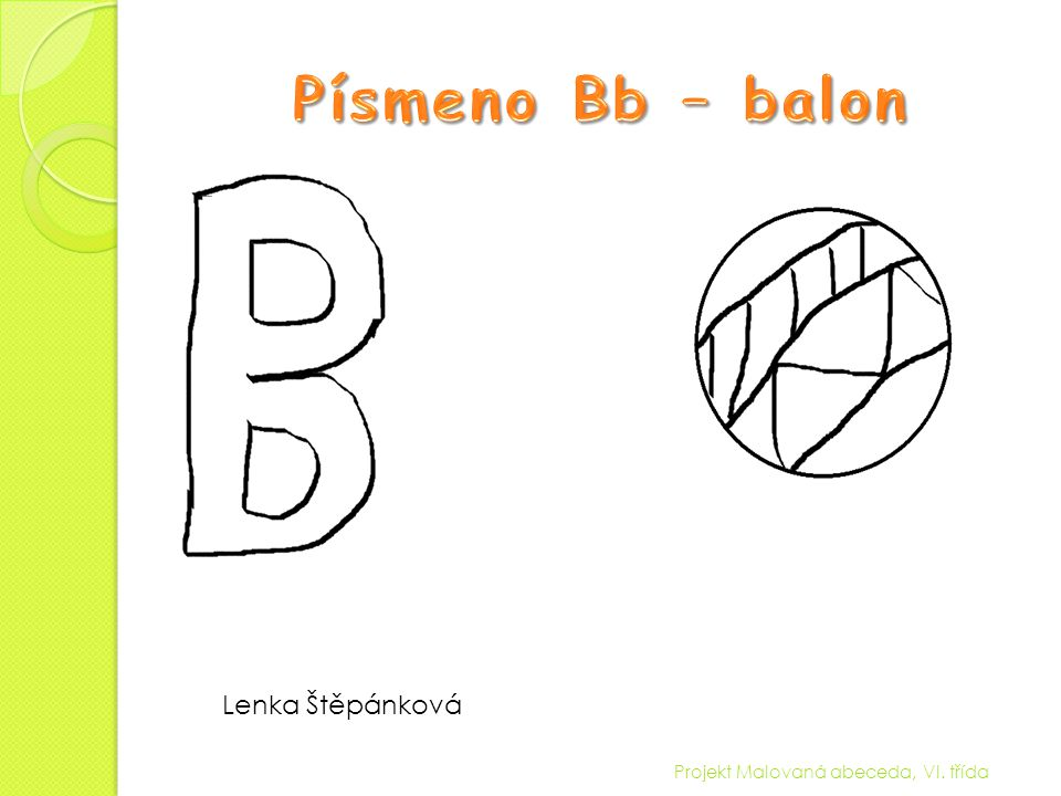 Písmeno Bb – balon Lenka Štěpánková