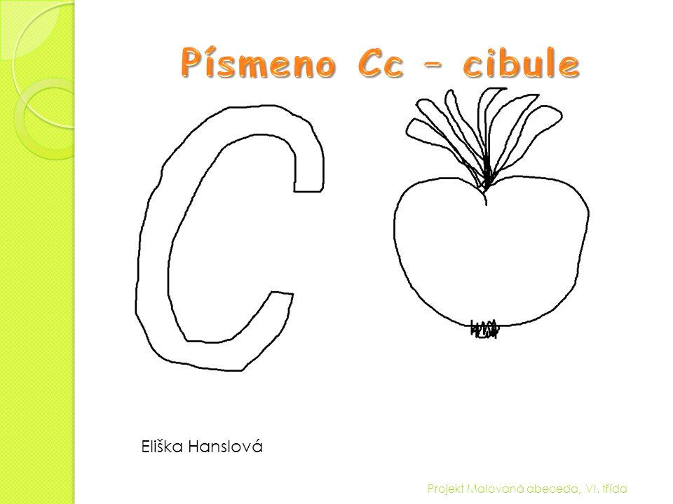 Písmeno Cc – cibule Eliška Hanslová