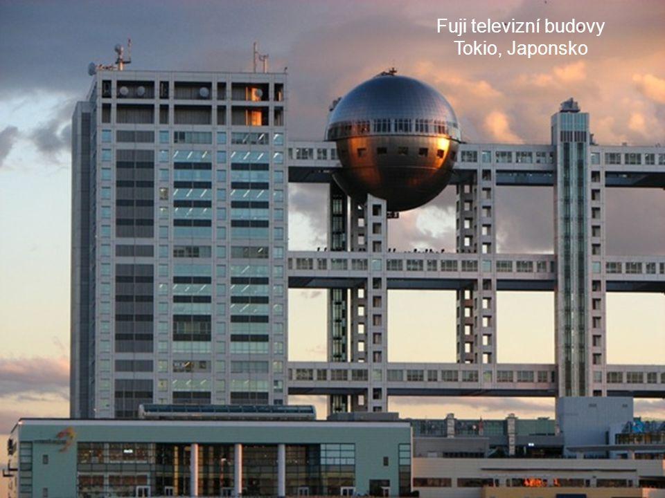 Fuji televizní budovy Tokio, Japonsko