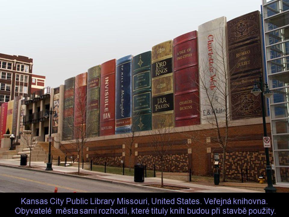 Kansas City Public Library Missouri, United States. Veřejná knihovna.