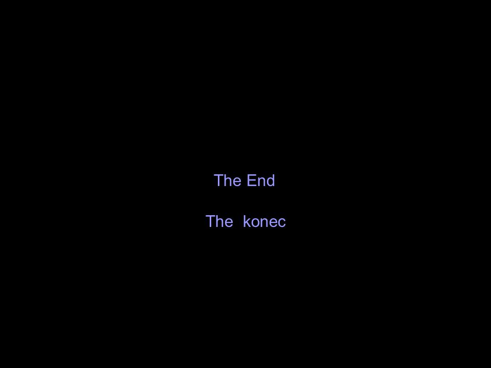 The End The konec