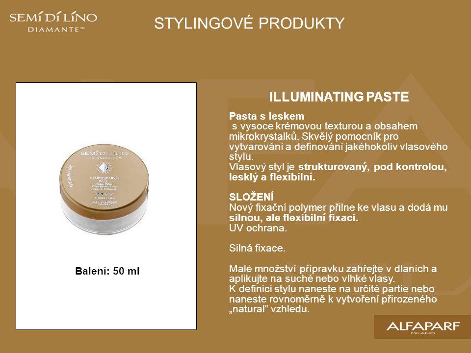 STYLINGOVÉ PRODUKTY ILLUMINATING PASTE Pasta s leskem