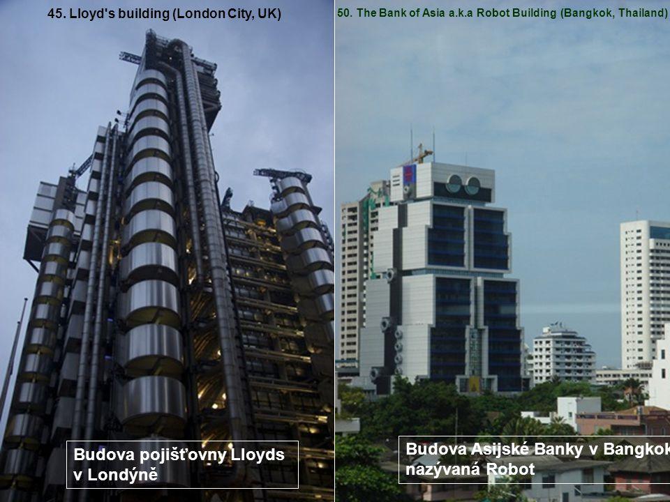 Budova Asijské Banky v Bangkoku, nazývaná Robot