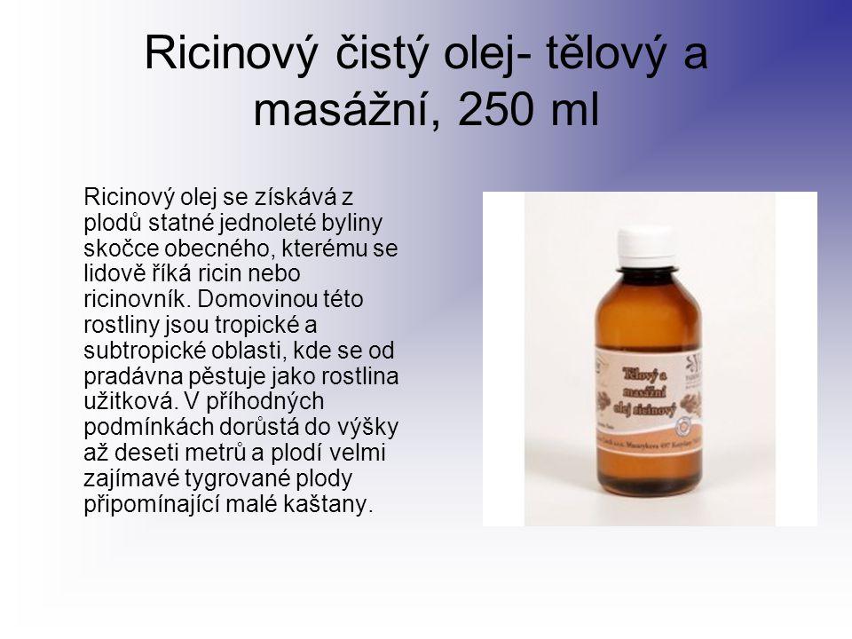 Ricinový čistý olej- tělový a masážní, 250 ml