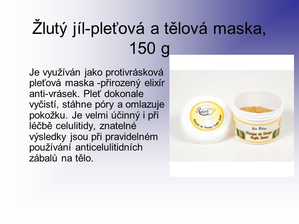 Žlutý jíl-pleťová a tělová maska, 150 g