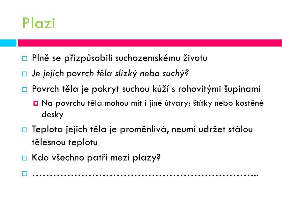 Plazi Plně se přizpůsobili suchozemskému životu