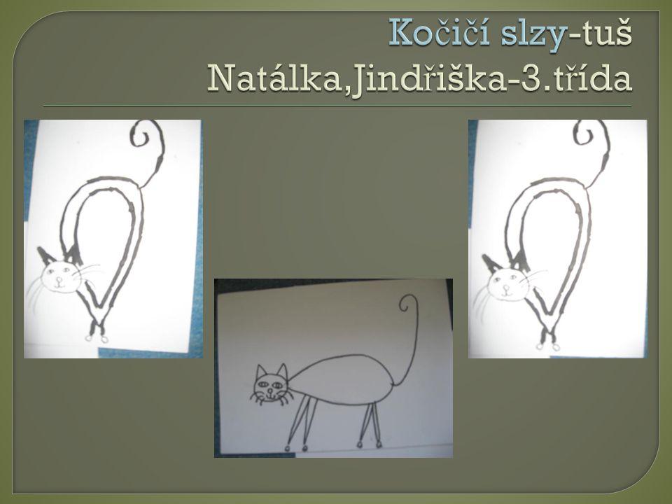 Kočičí slzy-tuš Natálka,Jindřiška-3.třída