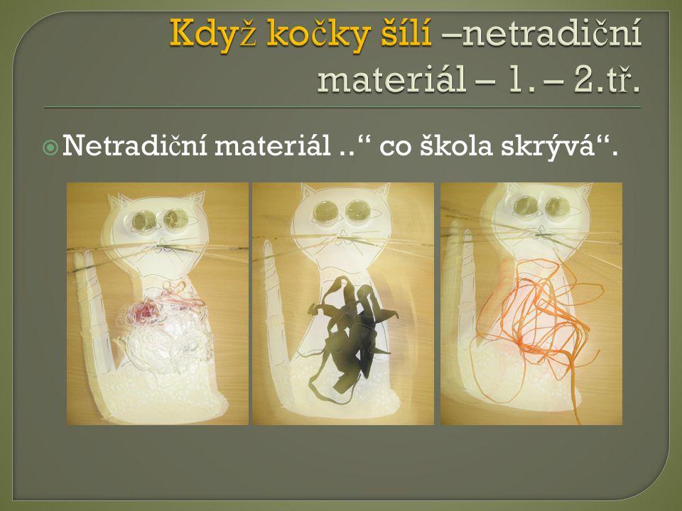 Když kočky šílí –netradiční materiál – 1. – 2.tř.