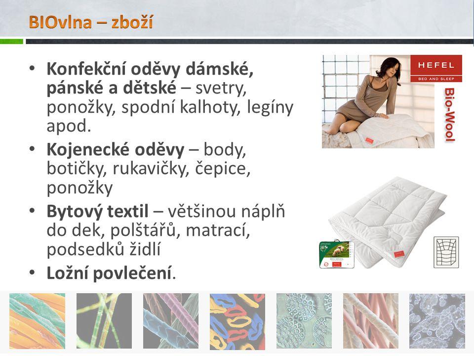BIOvlna – zboží Konfekční oděvy dámské, pánské a dětské – svetry, ponožky, spodní kalhoty, legíny apod.